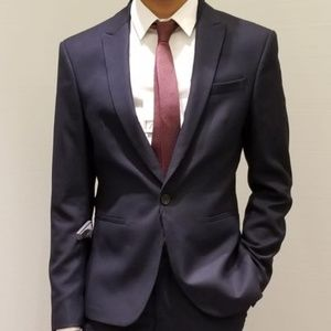 ZARA WEAVE SUIT JACKET-PANT,THIN TIE AND SHIRT